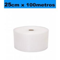 25cm x 100metros. Bobina Plástico Burbujas