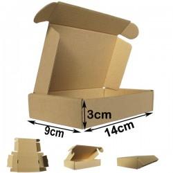 14x9x3cm. Cajas postales Automontables Microcanal Marrón.