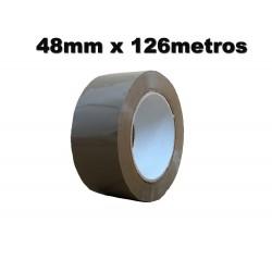 Cinta Adhesiva polipropileno 48mm x 126 metros. Marrón