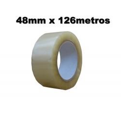 Cinta Adhesiva polipropileno 48mm x 126 metros. Transparente