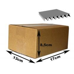 17x13x8,5 cm Cajas Cartón canal simple. MARRÓN