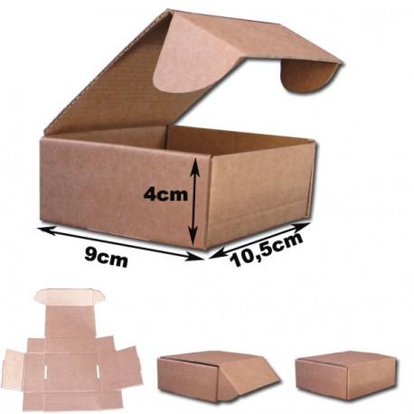 10,5x9x4cm. Cajas Automontables Microcanal Marrón.