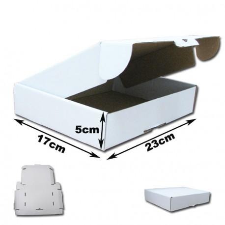 23x17x5cm. Cajas postales Automontables Microcanal BLANCAS