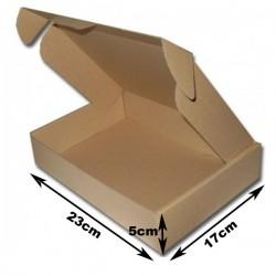 23x17x5cm. Cajas postales Automontables Microcanal Marrón.