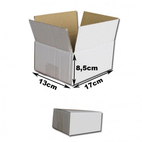 17x13x8,5 cm Cajas Cartón canal simple. BLANCAS