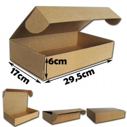 29,5x17x6cm.Cajas postales Automontables Microcanal Marrón.