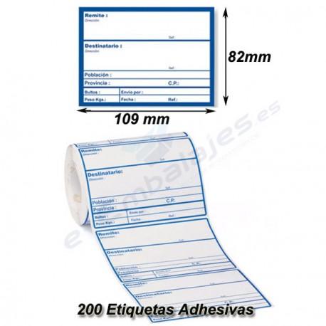 Rollo Etiquetas Adhesivas para envíos. Información . 200 etiquetas