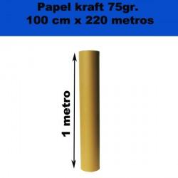 Rollo de papel Kraft 75gr. 100cm x 220metros.