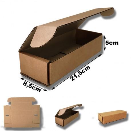 21,5x8,5x5cm Cajas Postales Automontables de cartón canal simple doble frontal .Kraft Marrón