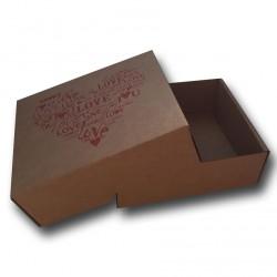 17x15x6cm. Cajas automontables con fondo y tapa. CORAZÓN LOVE