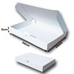 34x23x5cm. Cajas Postales Automontables Canal Micro cartón. BLANCO Es tucado