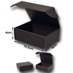 10,5x9x4cm. Cajas Automontables Microcanal NEGRO interior y exterior.