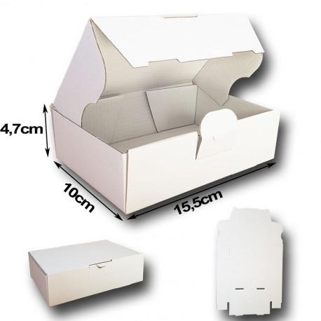 15,5x10x4,7cm. Caja automontable Canal Micro. Blanco interior y exterior.