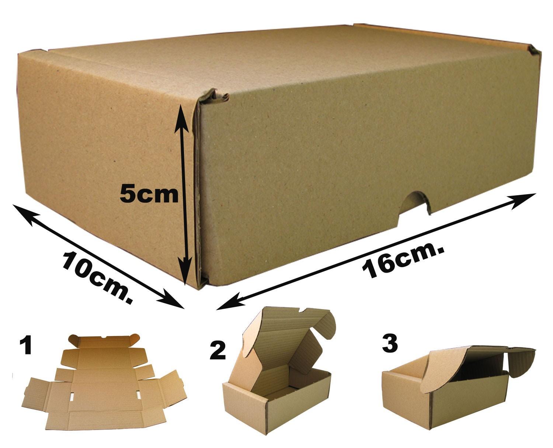 600e0620d0 16x10x5cm Cajas Postales Automontables de cartón canal simple doble frontal  . Marrón - e-Embalajes
