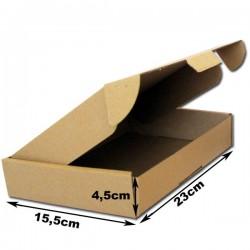 23x15.5x4.5cm. A5.Cajas postales Automontables Microcanal Marrón.