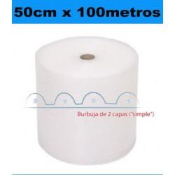 50cm x 100metros. Bobina Plástico Burbujas