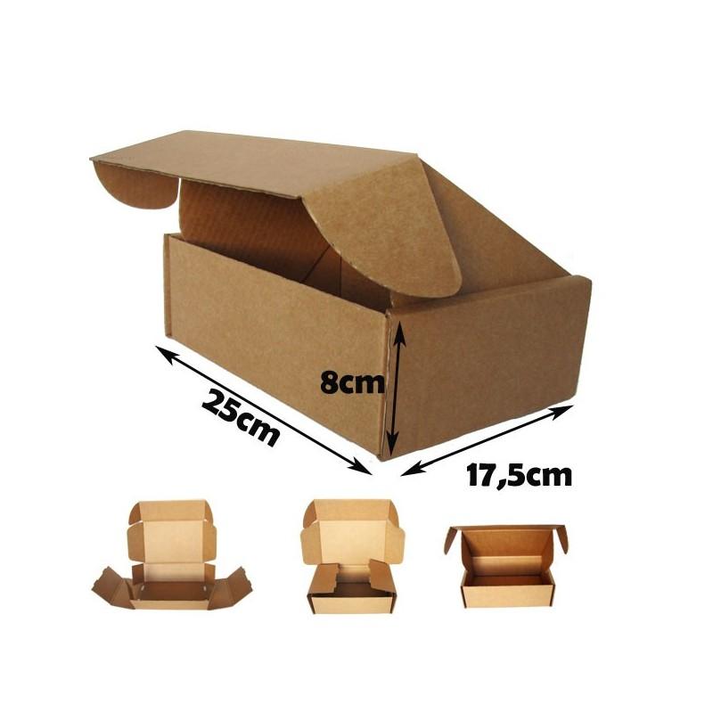 Cajas postales automontables de carton canal simple 25x17 for Cajas carton embalaje
