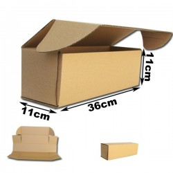 36x11x11cm Cajas Postales Automontables de carton canal simple.
