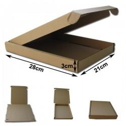 28x21x3cm.Cajas Postales Automontables Micro Cartón Kraf marrón. Tablet ipad.