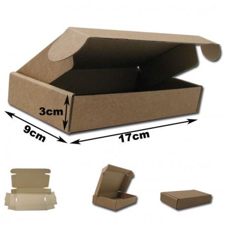 17x9x3cm.Cajas Postales automontables Microcartón. Color Marrón.