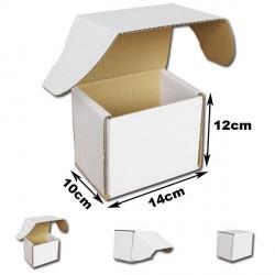 14x10x12cm Cajas Postales Automontables de cartón canal simple.BLANCAS