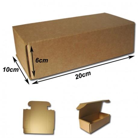 20x10x6cm Cajas Postales Automontables de cartón canal simple doble frontal . BLANCAS