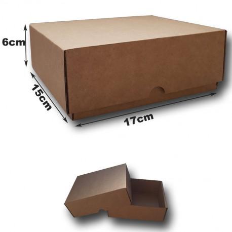 17x15x6cm. Cajas automontables con fondo y tapa.