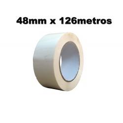 Cinta Adhesiva polipropileno 48mm x 126 metros. Blanca