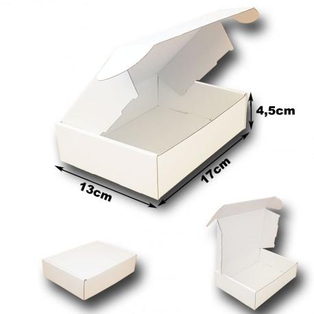 17x13x4.5cm. Cajas postales Automontables Microcanal. BLANCO interior y exterior