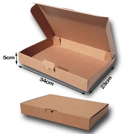 34x23x5cm. Cajas Postales Automontables Canal Micro. kraft Marrón.