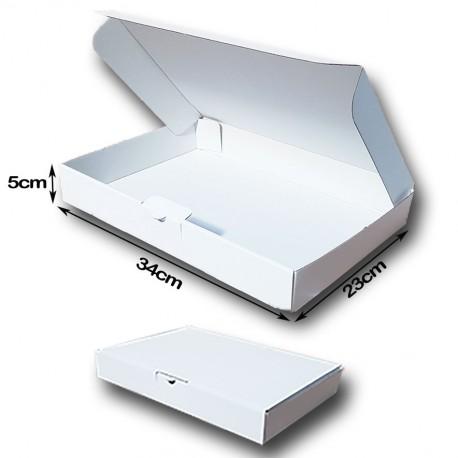 34x23x5cm. Cajas Postales Automontables Canal Simple.BLANCAS