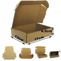 17x13x4.5cm. Cajas postales Automontables Microcanal Marrón.