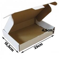 23x15.5x4.5cm. A5.Cajas postales Automontables Microcanal Blanco.