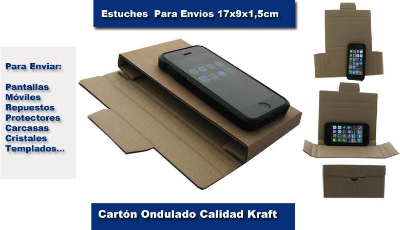Cajas para envíos de pantallas, móviles, cristales templados.